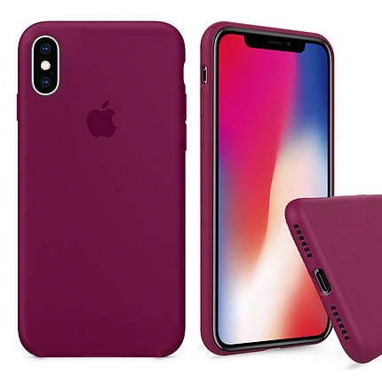 Чехол накладка xCase для iPhone XS Max Silicone Case Full rose red, фото 2