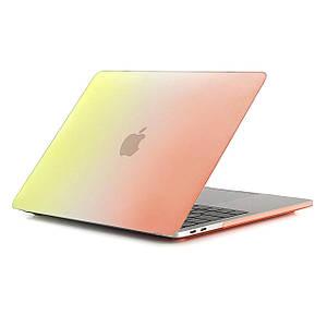 """Чехол HardShell Case for MacBook Pro 13.3"""" (2016-2019) Raindow Yellow-Orange"""