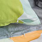 Комплект постільної білизни полуторний 1.5 спальний сатин, фото 2