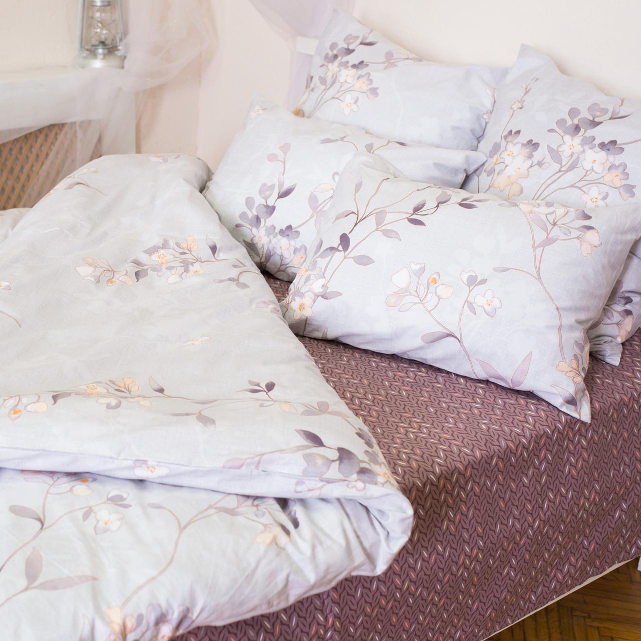 Комплект постельного белья полуторный 1.5 спальный сатин