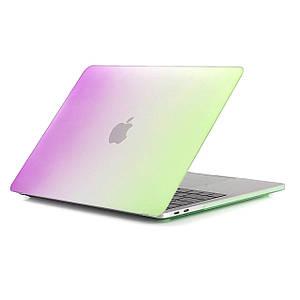 Чохол HardShell Case for MacBook Pro retina 15.4 Raindow Green-Purple