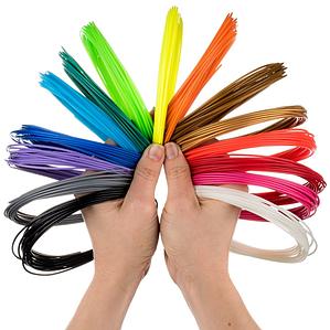 Набор PLA пластика для 3D ручки 1.75 ММ / 160 МЕТРОВ (16 цветов по 10 м)