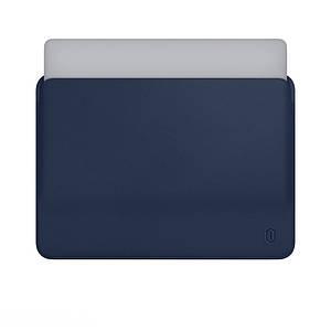 Чехол WIWU Skin Pro Leather Sleeve for MacBook 12 Navy Blue
