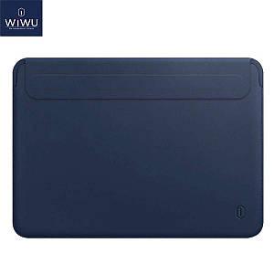 Чехол WIWU Skin Pro 2 Leather Sleeve for MacBook 12 Navy Blue