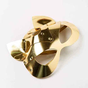Маска-Кошка Leather, Gold