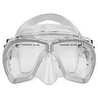 Маска для подводного плавания Dolvor Поликарбонат Обтюратор PVC Закаленное стекло Серый (СМИ M244P)