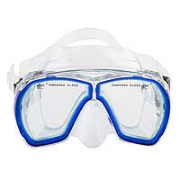 Маска для подводного плавания Dolvor Поликарбонат Обтюратор PVC Закаленное стекло Синий (СМИ M244P)