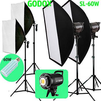 1,2kW Комплект Godox LED  профессионального постоянного видеосвета LED SL60W-572 KIT