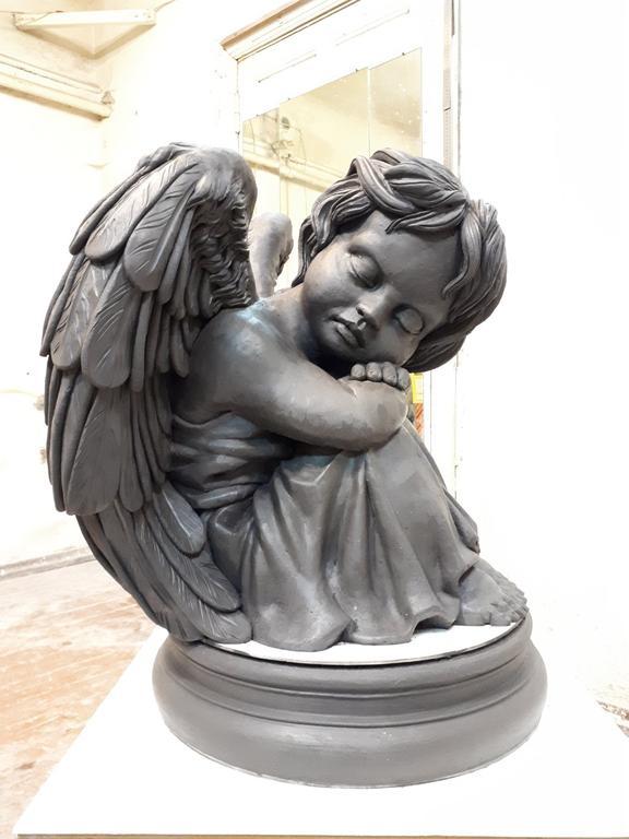 Работа над эксклюзивной скульптурой ангела