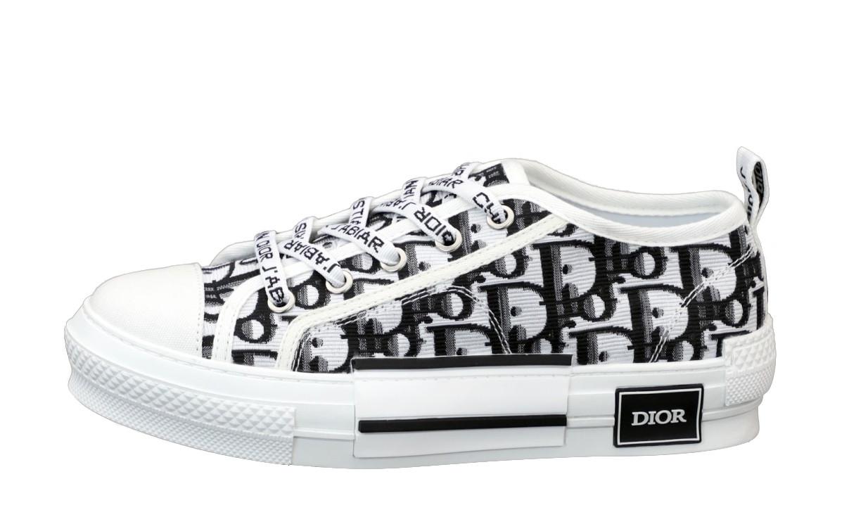 Женские кеды Dior Sneakers (бело-черные) 12187