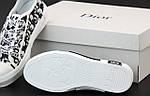 Жіночі кеди Dior Sneakers (біло-чорні) 12187, фото 3