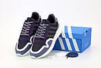 Мужские кроссовки Adidas ZX 500 (сине-черные) 12192, фото 6