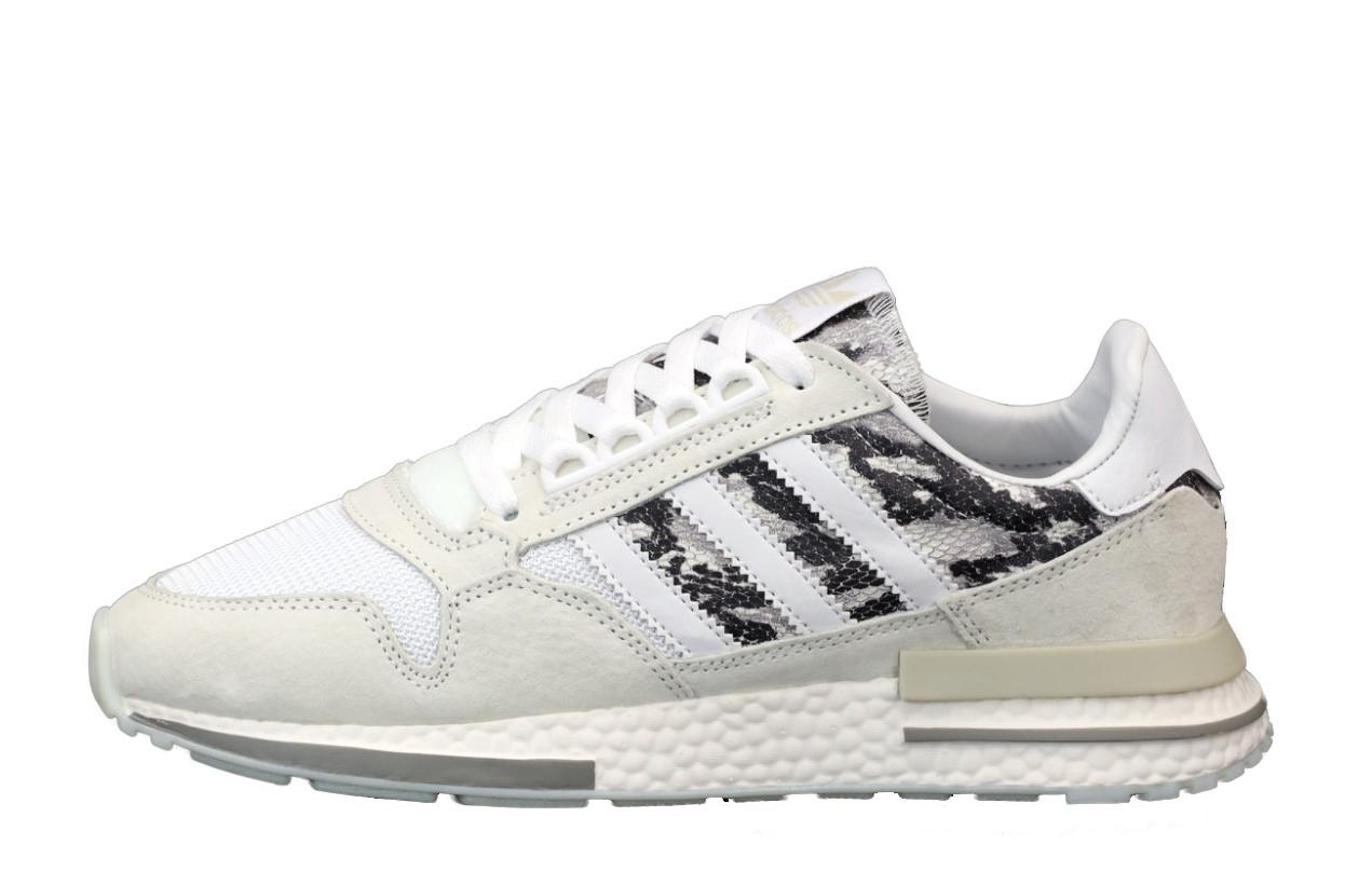 Мужские кроссовки Adidas ZX 500 (белые) 12111