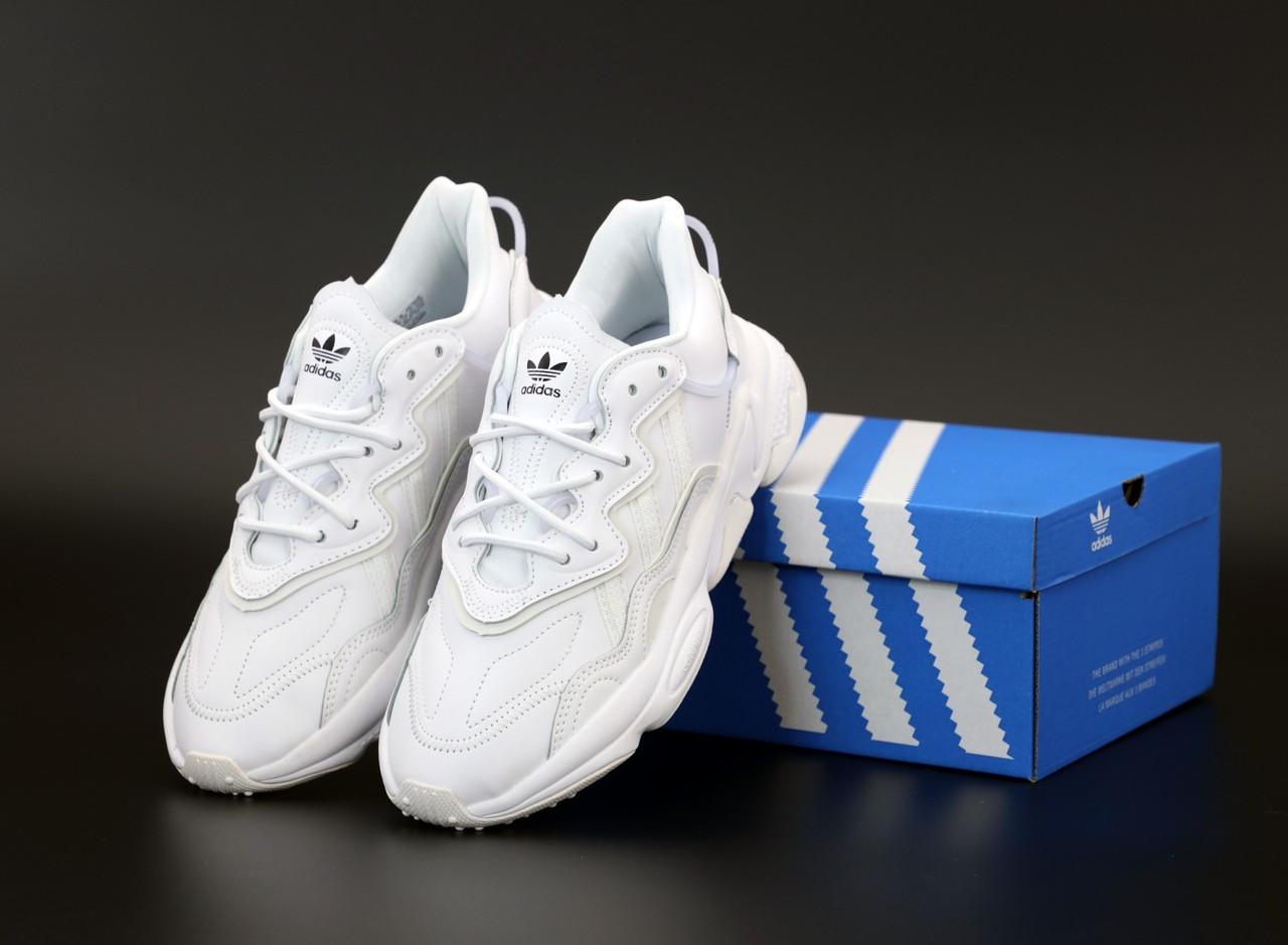 Кроссовки Adidas OZWEEGO (белые) Рефлективные 12076 - Унисекс