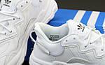 Кроссовки Adidas OZWEEGO (белые) Рефлективные 12076 - Унисекс, фото 5
