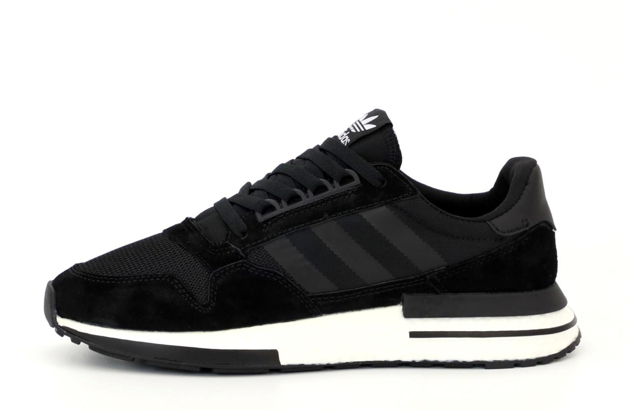 Мужские кроссовки Adidas ZX 500 (черно-белые) 12193