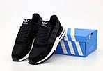 Чоловічі кросівки Adidas ZX 500 (чорно-білі) 12193, фото 2