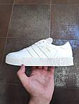 Жіночі кросівки Adidas Samba (білі) 12188, фото 3