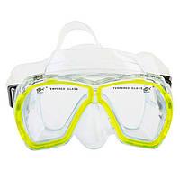 Маска для подводного плавания Dolvor Поликарбонат Обтюратор PVC Закаленное стекло Желтый (СМИ M244P)