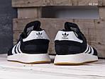 Чоловічі кросівки Adidas Iniki Runner (чорно/білі) KS 1500, фото 2