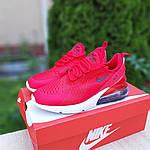 Женские кроссовки Nike Air Max 270 (красные) 20150, фото 4