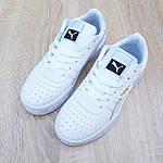 Жіночі кросівки Puma Cali (білі) O20153 легкі стильні кеди для дівчат, фото 9