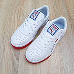 Женские весенние кроссовки Puma cali (бело-красные с синим) О20154 удобные легкие кеды, фото 4