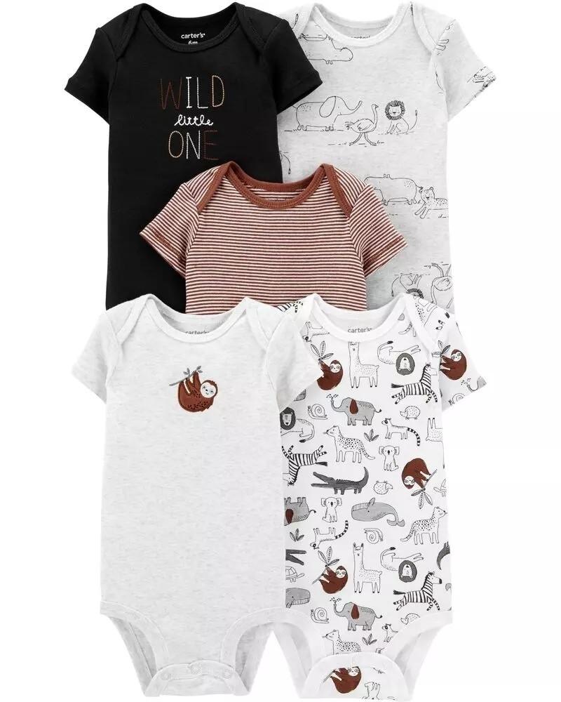 Набор боди-футболочек 5 шт Картерс для мальчика