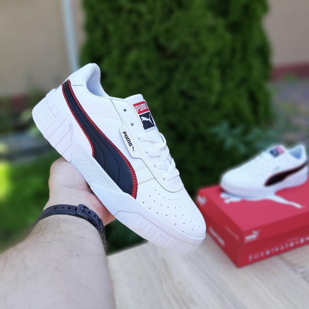 Мужские кроссовки Puma Cali (бело-черные) 10211