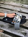 Мужские шлепанцы на лето Nike Just Do IT массажные (черные) 218, фото 3