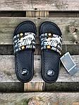 Мужские шлепанцы на лето Nike Just Do IT массажные (черные) 218, фото 5