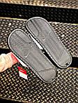 Мужские массажные шлепанцы на лето Nike Benassi (черно-белые) 201, фото 6