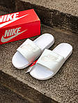 Массажные шлепанцы на лето Nike Benassi (белые) - Унисекс 203, фото 2