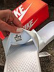 Массажные шлепанцы на лето Nike Benassi (белые) - Унисекс 203, фото 3
