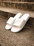 Массажные шлепанцы на лето Nike Benassi (белые) - Унисекс 203, фото 4