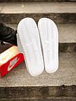 Массажные шлепанцы на лето Nike Benassi (белые) - Унисекс 203, фото 5