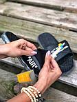 Чоловічі літні шльопанці Nike&Off White (чорно-білі) 213, фото 2