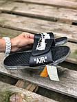 Чоловічі літні шльопанці Nike&Off White (чорно-білі) 213, фото 4