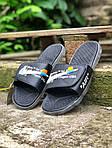 Чоловічі літні шльопанці Nike&Off White (чорно-білі) 213, фото 5