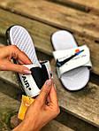 Чоловічі літні шльопанці Nike&Off White (білі) 214, фото 3
