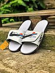 Чоловічі літні шльопанці Nike&Off White (білі) 214, фото 4