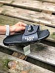 Чоловічі літні шльопанці Nike&Off White (сірі) 215, фото 2