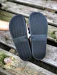 Мужские летние шлепанцы Adidas (черно-белые) 207, фото 3