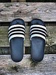 Мужские летние шлепанцы Adidas (черно-белые) 207, фото 4