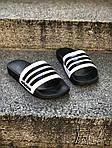 Мужские летние шлепанцы Adidas (черно-белые) 207, фото 5