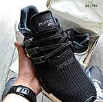 Мужские кроссовки Adidas EQT Support 91/18 black (черно/белые) KS 1498, фото 7