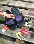 Мужские летние шлепанцы Nike со сменными свишами (черные) 211, фото 2