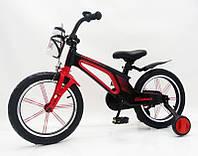 """Дитячий магнієвий велосипед 16"""" Brilliant HMR-880, чорно-червоний, фото 1"""