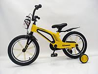 """Детский магниевый велосипед 16"""" Brilliant HMR-880, желтый, фото 1"""