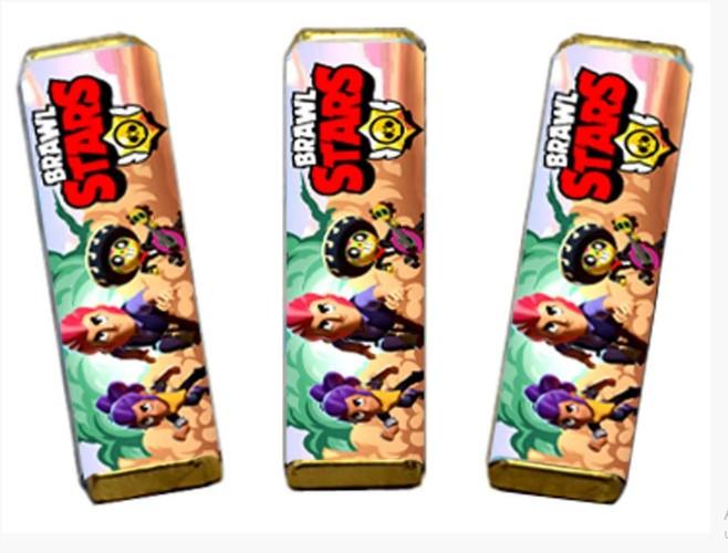Наклейка для шоколадного батончика BRAWL STARS 11.5х7.5см